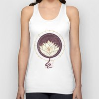 lotus Tank Tops featuring Lotus by Hector Mansilla