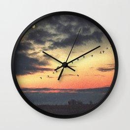 Looking at the Same Moon Wall Clock