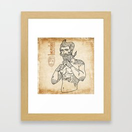 Bearded Beauties 2 Framed Art Print