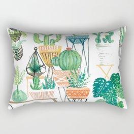Potted Jungles Rectangular Pillow