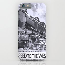 Affiche GWR Speed to the West iPhone Case