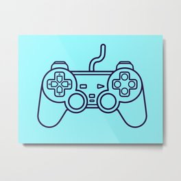 Playstation 1 Controller - Retro Style! Metal Print