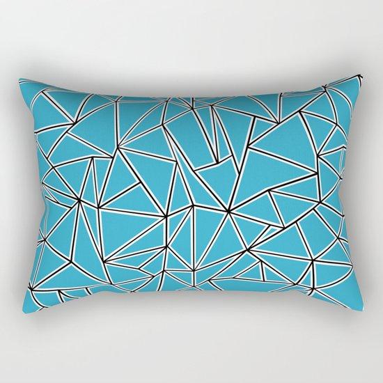 Shattered Ab Blue Rectangular Pillow