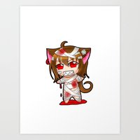 SD neko02 Art Print