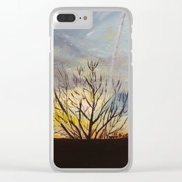 Sunset at the Park Clear iPhone Case