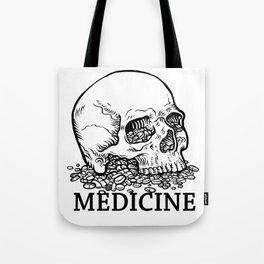 Medicine Skull Tote Bag