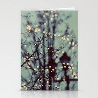 dragon ball z Stationery Cards featuring Winter Lights by elle moss