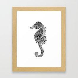 Seahorse Doodle Framed Art Print