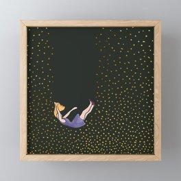 Falling lady Framed Mini Art Print