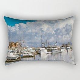 Storm Clouds over the Westport Marina Rectangular Pillow