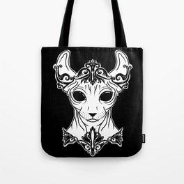 Elven Sphynx Kitten - Magical Elf Sphynx Cat - Hairless Tote Bag
