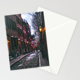 Acorn Street, Boston, USA Stationery Cards