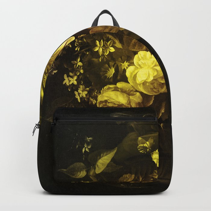 Flowers in a Vase - yellow Rucksack