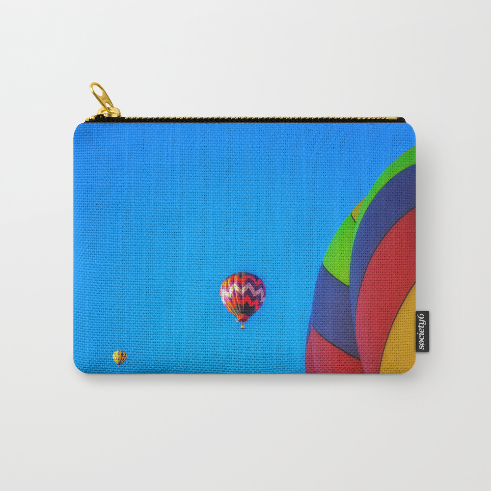 Flying Away Hot Air Balloons Carry-all Pouch by Marniepatchettphotography CAP8352113