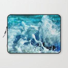 Sea Splash Watercolor Laptop Sleeve