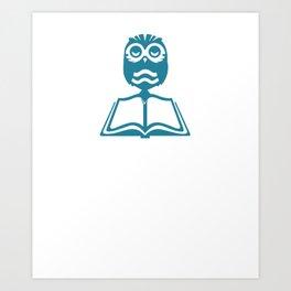 I'm Silently Correcting Your Grammar Owls Nocturnal Birds Animals Wildlife Wilderness Gift Art Print