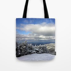 Skiing in Vermont Tote Bag