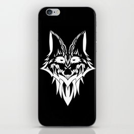 Fox in Black and White iPhone Skin