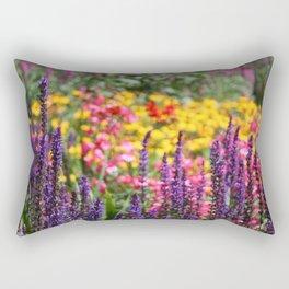 English country garden flowering border Rectangular Pillow