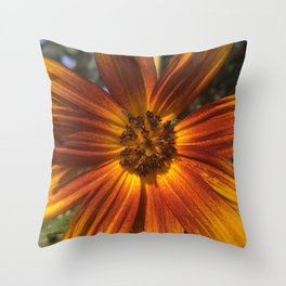 Sunburst Sunflower Throw Pillow