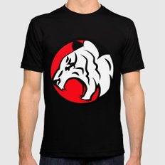 White Tiger Black MEDIUM Mens Fitted Tee