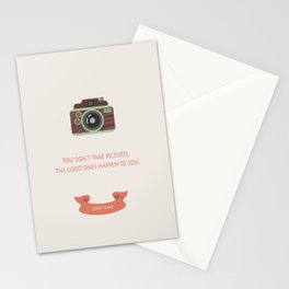 Taking pictures Stationery Cards