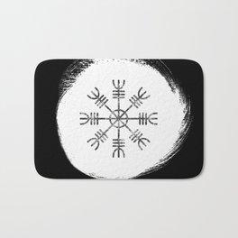 Black and White Helm of Awe | Aegishjalmur Icelandic Stave Bath Mat