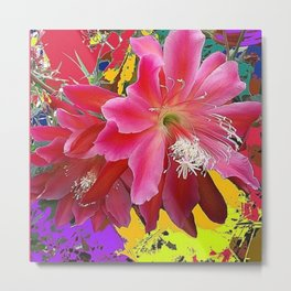 Fuchsia Pink Orchid Cacti Flower Metal Print
