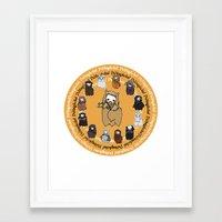 fili Framed Art Prints featuring Dwarpacas(Fili) by Lady Cibia