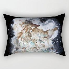 Excerpt / Curacao Coffee on Canvas Rectangular Pillow
