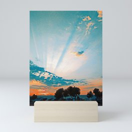 Naxos, Greece Sunset over the Ocean Mini Art Print