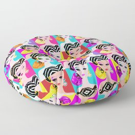 Pop Art Barbie Floor Pillow