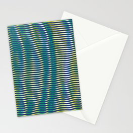 wave lines Stationery Cards