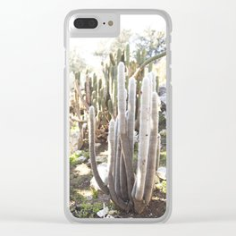 Silver Torch Cactus Clear iPhone Case