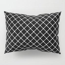 Dotted Grid 45 Black Pillow Sham