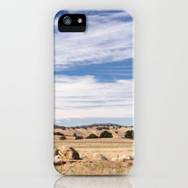 Dry meadows and rolling hills near Julian, CA iPhone Case