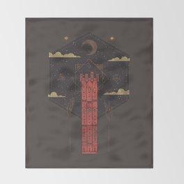 The Crimson Tower Throw Blanket