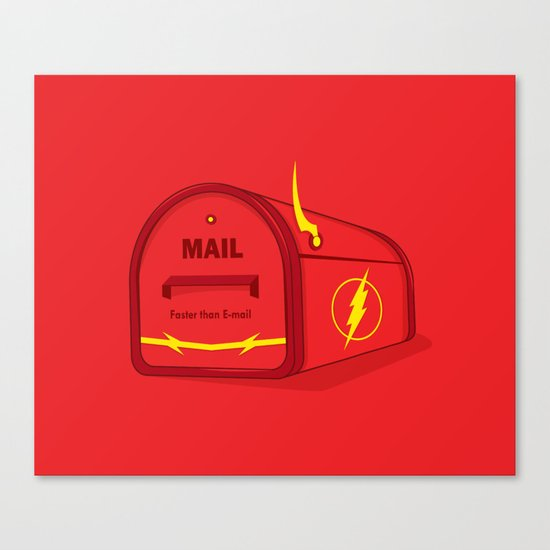Faster than E-mail Canvas Print
