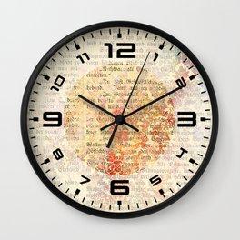 Vintage Ephemera 1 Wall Clock
