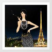 Très chic - Bonne Nuit Paris Art Print