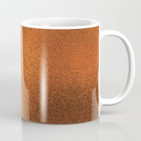 gold foil Mugs featuring Gold Foil Texture 4 by Robin Curtiss