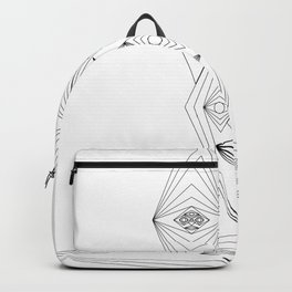 Many geometrie Faces Backpack