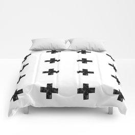 Watercolor Swiss Cross (White) Comforters