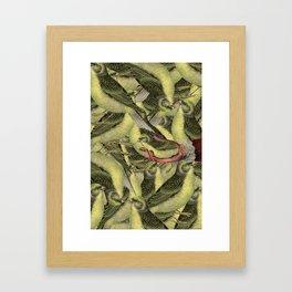 To bird or not to bird Framed Art Print