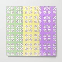 Tri colored MG with white fleur de lis Metal Print