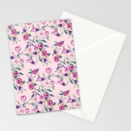 Pansy Purple on Ballerina Pink Stationery Cards