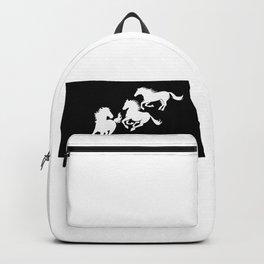 North Dakota Nokota Horse Lover Black Backpack