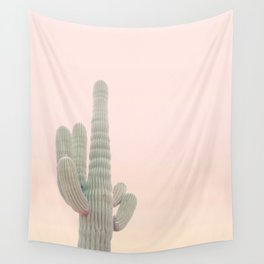 Pastel Colors Cactus Photo - I Stand Alone Wall Tapestry