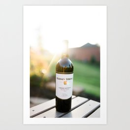 Wine and the Sunset Art Print