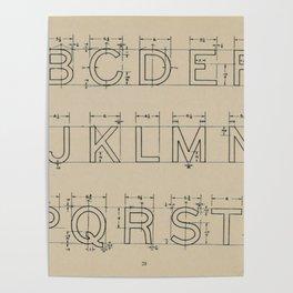 Vintage Block Font Poster